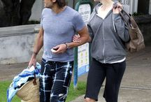 Keith and Nicole leaving beach in Sydney
