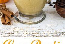 Vegan pumpkin latte