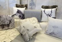 Walking In A Winter Wonderland.. / With the temperature dropping, the mornings look a little white and frosty. If you love those frosty mornings, this little collection of wallpapers, cushions and wall art allow you to create your own winter wonderland.