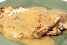 Escalope de poulet à la moutarde