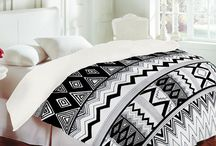 Tribal / Tribal print inspired home decor and decoration.