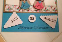 Card creations by Birdie / Birthday card using owl punch and pennants die!