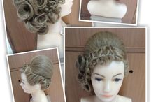 Bow Braid Vaganza / Elemen Color: Pale yellow. Elemen shape : Bow. Elemen texture : Waving smoothly. Elemen pattern: Braid fiber
