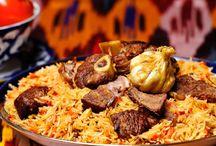 Uzbek cuisine - узбекская кухня / Узбекская кухня - это прежде всего плов. В зависимости от местности приготовления блюда различают самаркандский, бухарский, ферганский и другие.