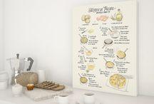 ~ Original illustrations ~ Illustrated recipes by Rosana Laiz from blursbyai