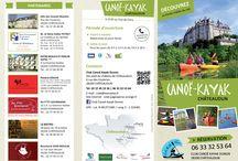 Plaquette touristique 2016 / Présentation des activités canoë-kayak proposés pendant la saison touristique à Châteaudun