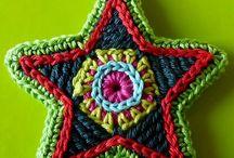 crochet flowers and motives
