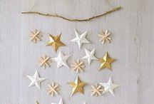 suspension étoiles noel