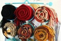 Ranger ses foulards et écharpes / Idées mode et différentes manières de ranger ses foulards et ses écharpes mode pour un homme comme une femme. Rangements spécifiques pour les foulards.