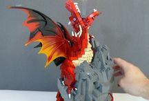 LEGO dragons animals