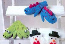 Kinderhandschoenen / Kinderkleding gebreid