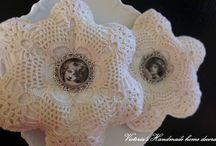 Handmade decoration / Vintage, Shabby, Kant, Lacy, Lavandel