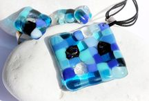 Mosaic  glass jewelry / Mozaik üveg ékszerek