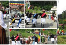 Costumes and traditional dances from Schei Brasov at the Pentecost
