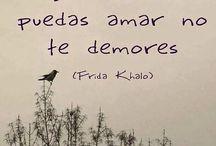 Frida Khalo / Gosto, gosto, gosto muito de Frida, da vida, da arte e do pensamento dela. Principalmente a forma como lidou com a dor - as diversas dores.