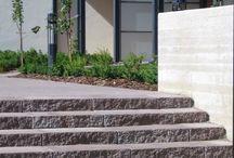 Ulkoportaita / Landscaping with steps / Rakenna tukevat ja kauniit portaat porraskivillä! Turvallisuutta, kestävyyttä, tyylikkyyttä. Ratkaisuja vaativiin ja vaihteleviin olosuhteisiin ja kohteisiin. Tutustu ja kysy meiltä lisää.