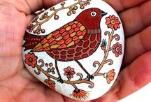 taş boyama                         paintedstone