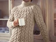 Sweaters Polo Neck Cabled