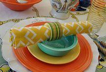 Fiestaware. . .  for that vintage look...