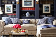 Blue bege interiors