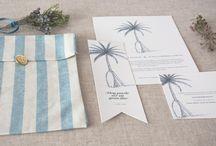Papelería para una boda surfera y elegante en Tarifa: Sara y Juan