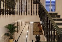 Sweeping Staircases / Today's modern staircases offer all sorts of beautiful designs, style, colours ... Pure Hollywood