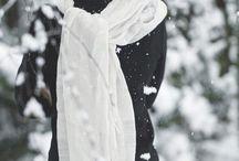 Black Winter In The Snow