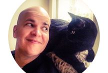 Cats / Photos of cats. Or me with cats.