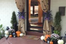 Halloween / Halloween themed front door / by Frannie Whipple