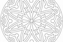 Grown up colour-in pages and mandalas