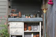 Sweet Outdoors...Potting Area/Bench