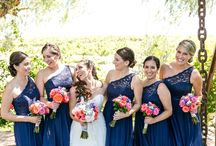 Navy Blue Wedding Accents / One of our recent brides at Villa de Amore used Navy Blue as her accent color.  Blue is becoming a very trendy color scheme for brides this year.