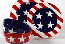 PYOP - July 4th / Patriotic themed paint your own pottery projects