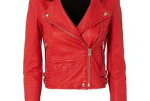 Leather Jackets red
