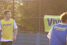 """Vivamil no Futebol / Em um projeto denominado """"Vivamil Soccer"""", fomos até as quadras de futebol 7 entregando Energia Pura para todos os que tem como hobby bater uma bolinha."""