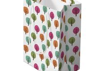 Nature is a Gift / A collection of nature themed gift bags, gift wrap, ribbon and gift tags. Wrap your gifts in nature.
