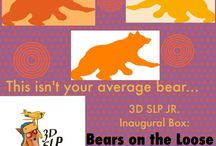 3D SLP Jr. Inaugural Box: Bears on the Loose / Are you ready for a box for Early Literacy and Learning? We love welcoming our Early Intervention and Preschool Professionals and families to explore what 3D SLP has to offer for early Literacy and Language Learning!