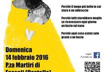 14-02-2016 #abbracciebaci / un invito ad abbracciarsi fra poesie d'amore, musica e buonumore