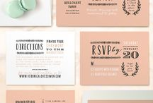 invitations.cards.typography / by Derya Cengiz