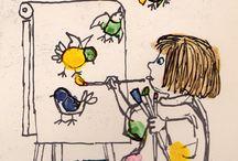 Pintando niños