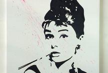 Audrey Hepburn / Quadri per arredamento moderno
