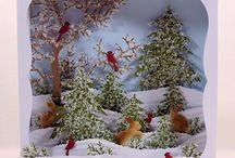 kartki 3 d Boże Narodzenie