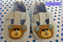 sapatinhos de bebe / sapatinhos produzidos por nós , todos tem apostilas a venda