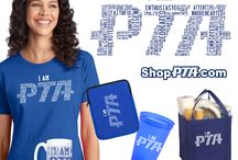 """Shop PTA Design Collections / We know the PTA constituency. We know their affinity to not just volunteer, but to be well known around as a """"PTA Mom"""" or """"PTA Dad."""" They wear these labels proudly and it is what has inspired our fun collection of PTA designs."""