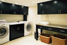 Laundry Room Ideas / Creativity and inventiveness blends with function in the artfully designed Laundry Room.  For more ideas for your own space email me at Gloria@ArtfulKitchens.net
