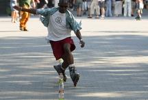 skaters on roller blades