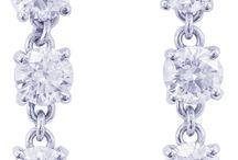 14K WHITE GOLD, 1.20CTW ROUND CUT DIAMONDS PRONG SET STYLE DANGLING EARRINGS
