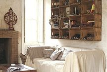 Living Room / I love modern vintage style - mixing styles - new and old