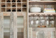 old wooden kitchen cupboards