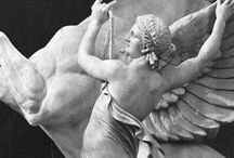 Angeli sculture. /  Illustrations for Fantasy Book